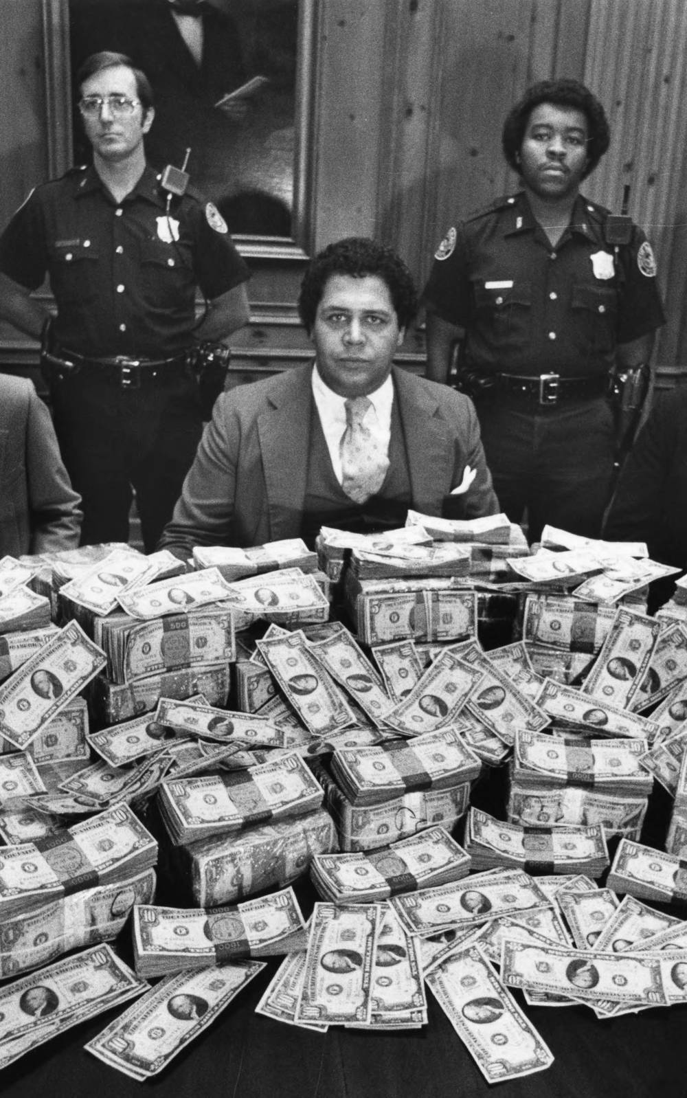 Reward money being offered for information. Photograph by George Clark (1980) Atlanta Journal-Constitution Photographic Archives. Special Collections and Archives, Georgia State University Library.