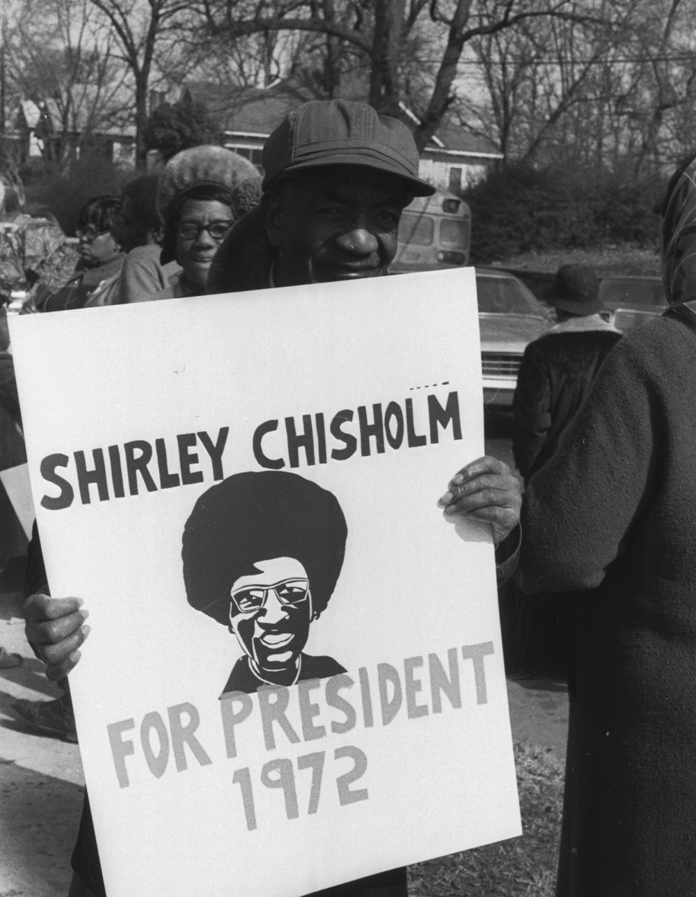 Campaigning for Shirley Chisholm, Summerhill. Photograph by Boyd Lewis. Boyd Lewis Collection. Courtesy of the Kenan Research Center at the Atlanta History Center.