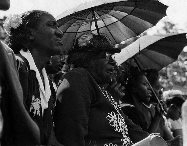 Audience at a Martin Luther King Jr. Rally, Los Angeles. Photograph by Joseph Schwartz (1963)