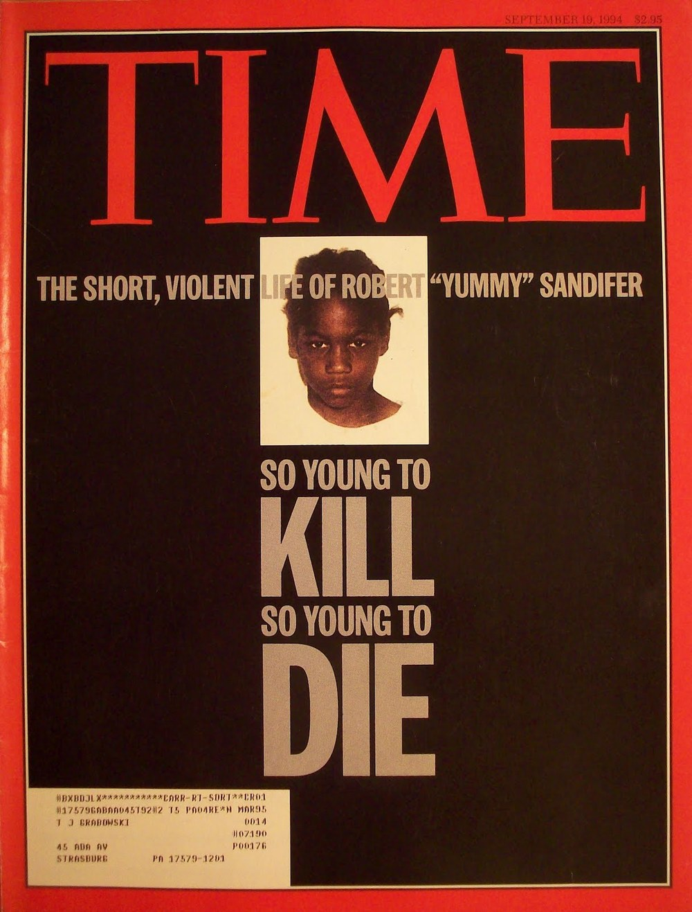 Time Magazine Cover Story:   Crime Murder in Miniature   by Nancy Gibbs (1994)