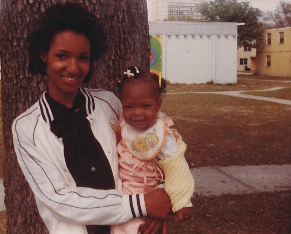 Photograph of my mother and I in the Blodgett Homes, April 1983. From the personal archive of Renata Cherlise