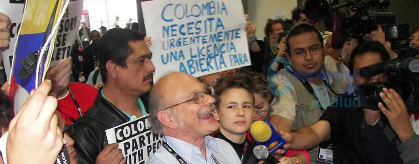Marchas ciudadanas al interior de la Conferencia Internacional de VIH/Sida, en Ciudad de México (2008), para socializar con el mundo la solicitud de las comunidades colombianas afectadas por el VIH