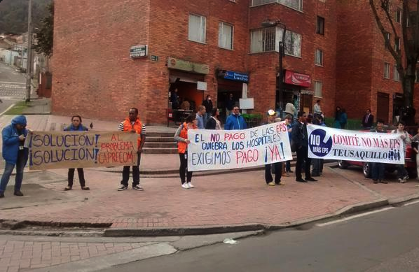 PROTESTAS EN DISTINTOS HOSPITALES DEL PAÍS POR LAS DEUDAS DE LAS EPS CON ESTOS CENTROS DE ATENCIÓN