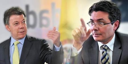 Juan Manuel santos, presidente de colombia; alejandro gaviria, ministro de salud