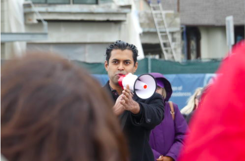 State Senator Vin Gopal at a Socialist Rally in Monmouth County