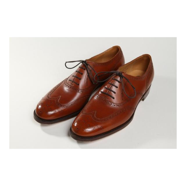 フルブローグ/ オックスフォード   ・ハンドソーンウェルテッド製法(九分仕立て)100,000円  ・ヴィンテージスチール  Leather:フランス/ブラウン  Mens shose
