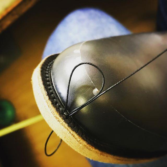 #fysky#ordershoes#shoemaker#japan#shoes#shoemaking#handmade#handsewnwelted#style#madeinjapan#leathershoes#shoestagram#shoefashion#靴#注文靴#靴職人#靴作り#革靴#紳士靴#ハンドソーンウェルテッド#マッケイ#9分仕立て#フルハンド#東京#吉祥寺