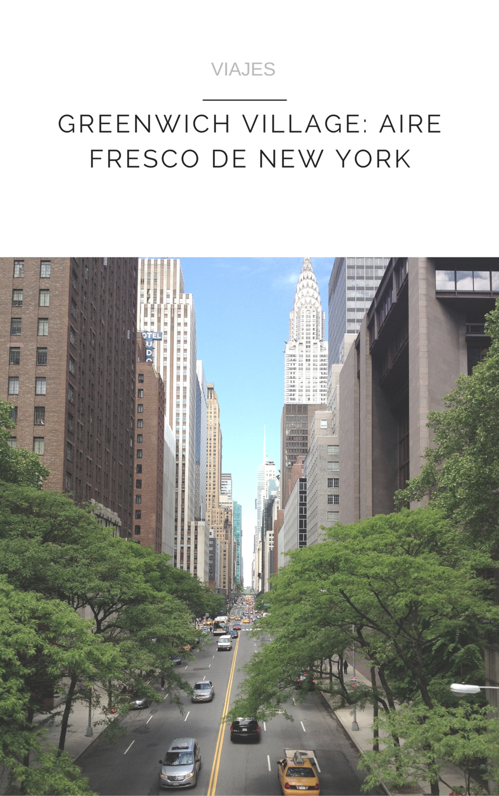GREENWICH VILLAGE: AIRE FRESCO DE NEW YORK