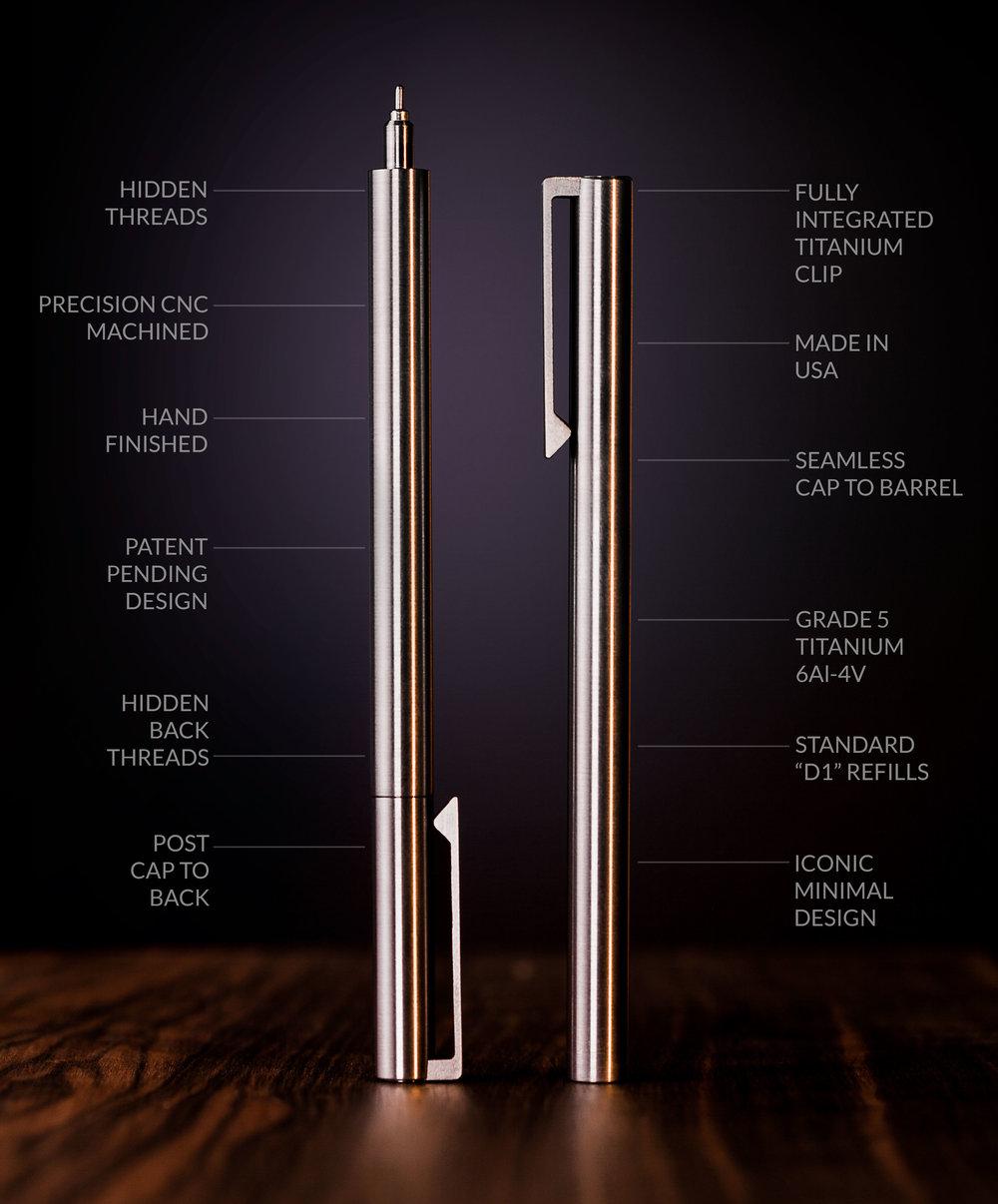 V2 - Titanium EDC Ink - CLIP version