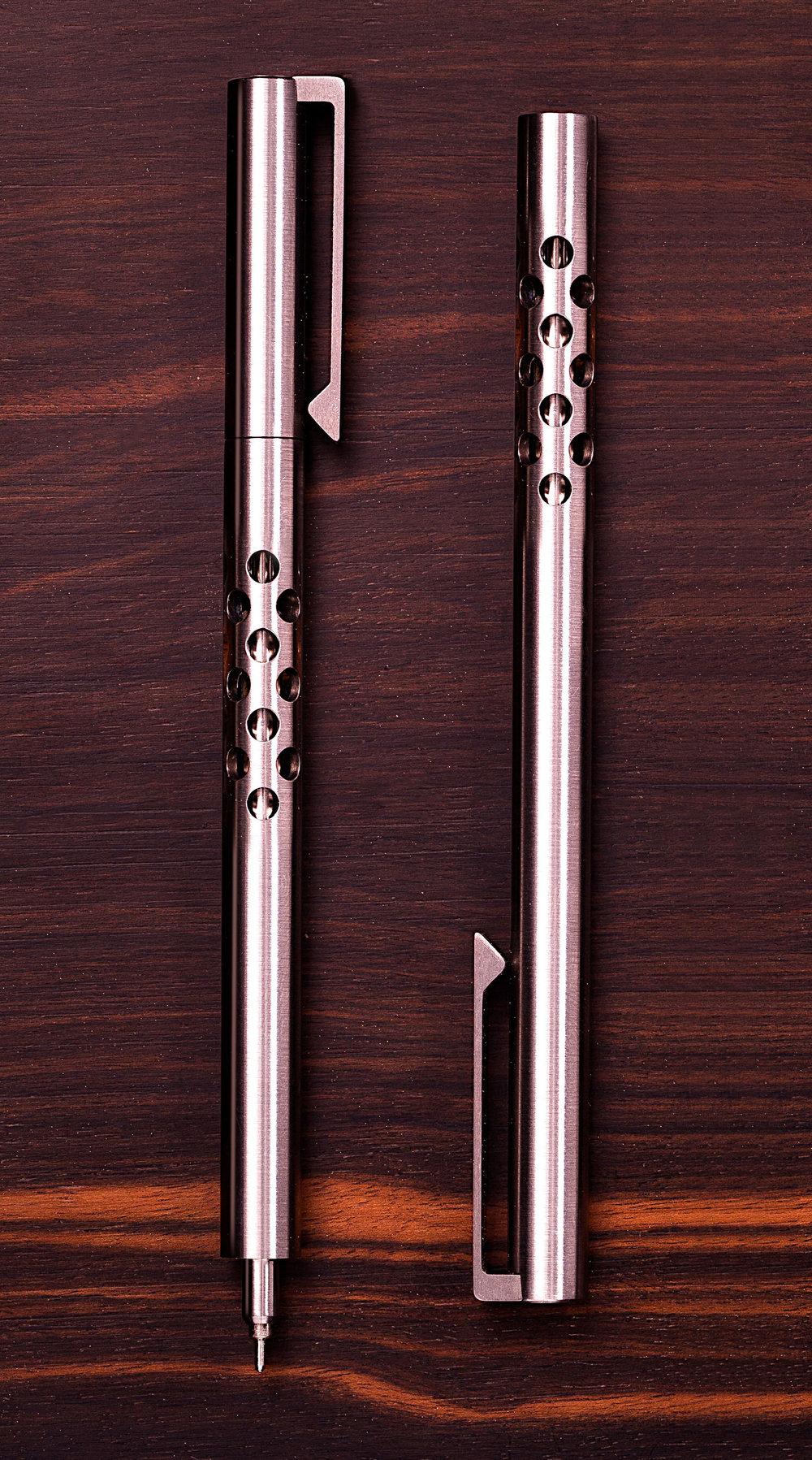 V2 - Titanium EDC Ink - CLIP version with SILENCER Option