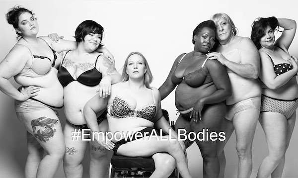 """I've seen memes with full-figured girls in the background that read things like, ""Real women have curves,"" or ""Real men like curves; only dogs go for bones,"" etc., as though one body type is inherently unattractive or lacking sex appeal. According to this school of thought, only curvy or overweight bodies are beautiful and deserve empowerment."" Words of wisdom from the new blog written by Mel Ferrier from @thelovehackers . BLOG LINK IN BIO! . . . #youarebeautiful #feminist #empowerallbodies #empowerallbodiescampaign"