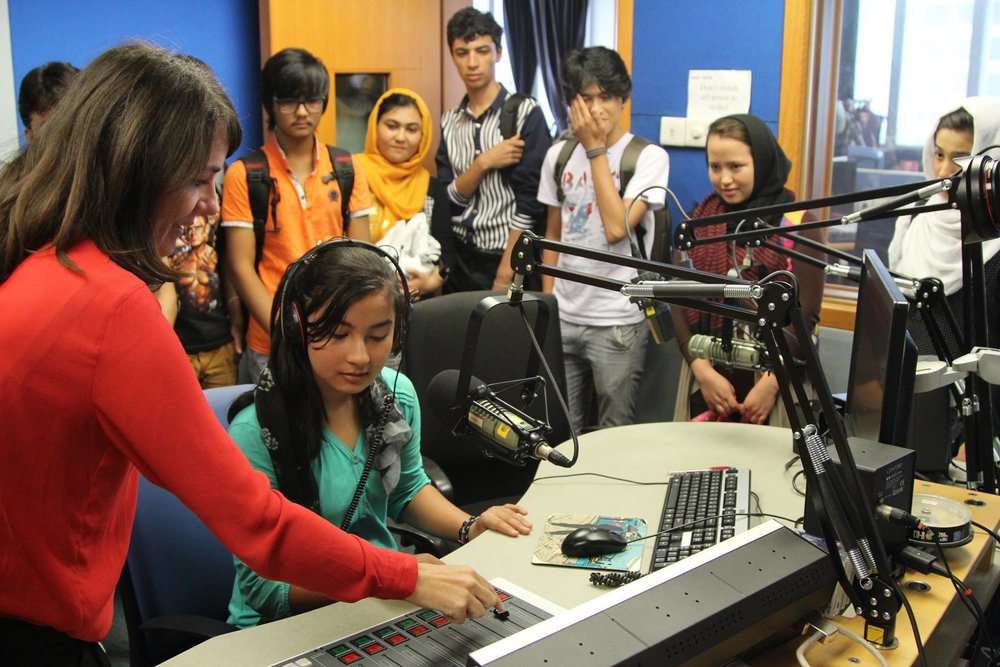 The CRLC students experiencing how to be a journalist at the BBC office in Jakarta.
