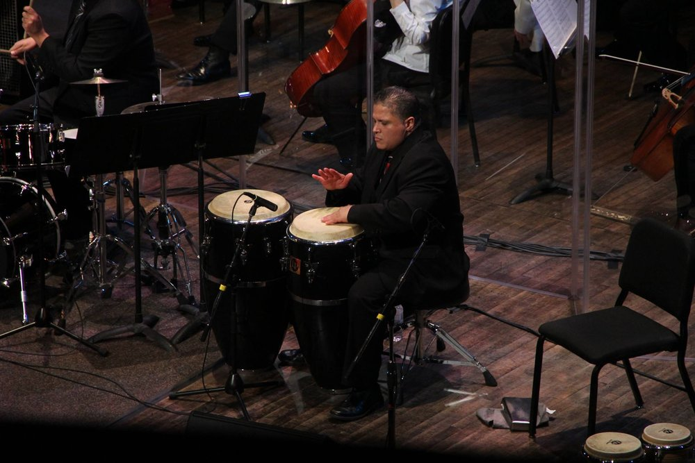 Tony Padilla with the Vancouver Symphony Orchestra