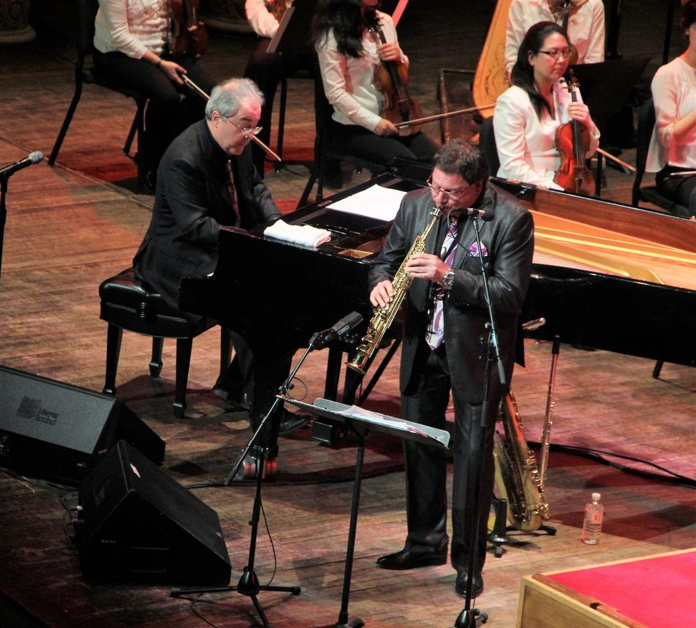 Richard DeLaney and John Viavattine with the Vancouver Symphony Orchestra