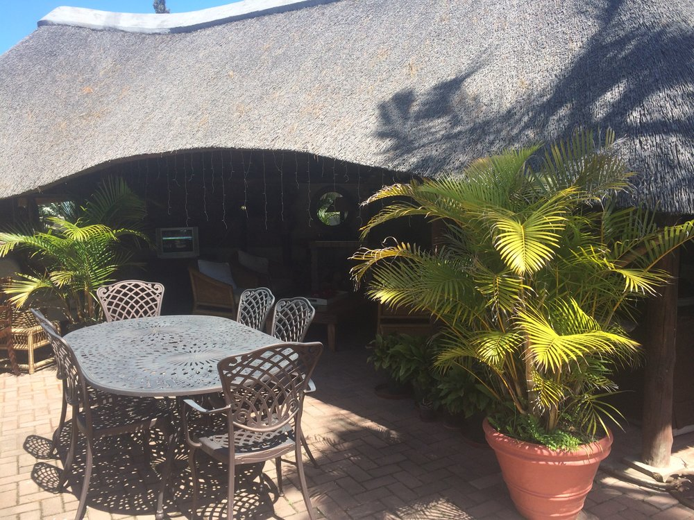 a thatched lapa is a comfortable and quiet space to shelter from the sun!