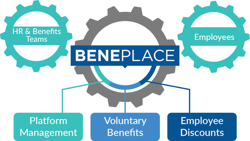 Infographic used to explain the Beneplace model to prospective clients