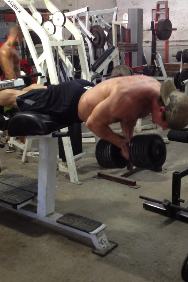 3x3 front squat @80%  21-15-9 Weighted back extensions (25lb) Push ups