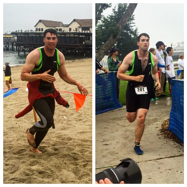 Finished my 5th triathlon with a time of 1:04:58 in the sprint. My best yet.