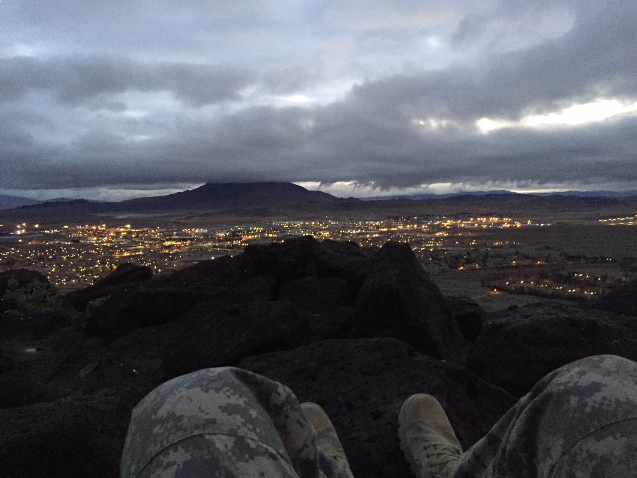 3 mile ruck up Mt Blackie (the photo above)    3x5 push press @75%