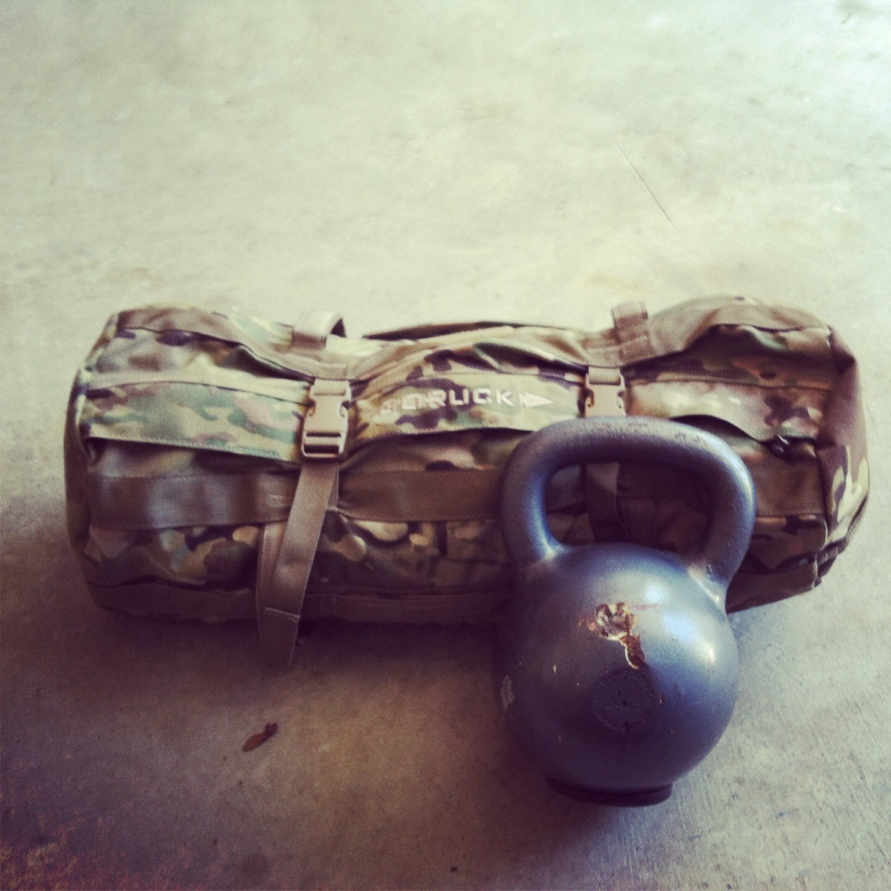 """Today begins my new workout schedule. It's focused on the Army Physical Fitness Test (APFT), getting selected for military schools, triathlons, and just being plain ol' bad ass. The base of the work out is from Military Athlete's Special Forces selection and Pre-Ranger school work out programs. I try to focus on one or two lifts a day along with a cardio exercise. The weights and reps are determined using the 5-3-1 method. The biking and swimming workouts are pulled from Triathlete Magazine's """"Essential Week by Week Training Guide."""" Crossfit dominates most of the workouts. WODs pulled from the Crossfit main site and the web sites of some Crossfit boxes fill in gaps. I hope to write it all down into a proven program once I complete it.   A few work outs at the beginning May have ellipticals and stationary bikes in it as my foot recovers from the 38 mile walk.  WOD: 10min 80lb sand bag get ups  8 mile stationary bike  3rds 5 power cleans @65% max (150lb) 10 toes to bar 20 kettlebell swings 50lb 8:55  ½ mile elliptical highest setting 10:11 ½ mile run 4:43 21/2 mile bike 10:25"""