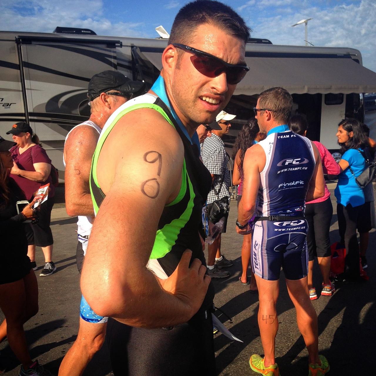Ran my 4th triathlon this morning. This one was sprint in Laguna Beach (pacific coast tri) 11:33.(that's me!)