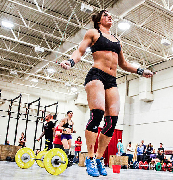 crossfitters :     Stacie Tovar     10-9-8-7-6-5-4-3-2-1 205lb bench Double unders Dips Back extensions  24:19