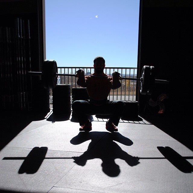 9 185lb front squats 20 toes to bar 400m run 7 185lb front squats 20 ttb 400m run 5 185lb front squats 20 ttb 400m run  15:30