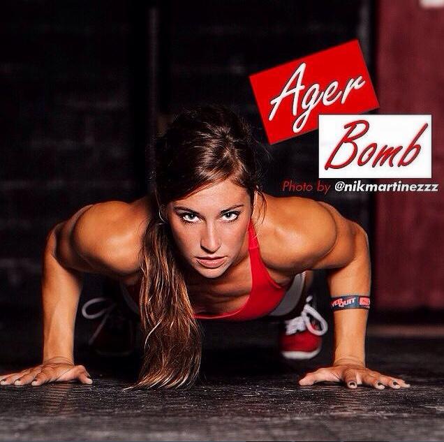 crossfitters :     Andrea Ager     21-15-9 275lb dead lift Push ups 12:00 flat  5 mile run