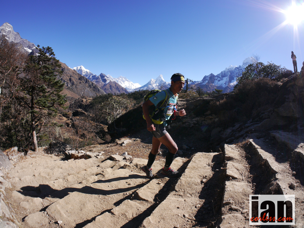 iancorless :     Today's inspiration - Upendra Sunuwar, Nepal.   A daily shot of inspiration at runshots.com and on twitter @runshots     6.5 mile trail run today up beacon hill and beyond.   WOD:  5rds 3 min amrap each with 1 min rest 3 155lb clean 6 push ups 9 squats