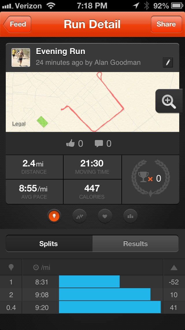 Getting my run on. Doing triathlon training wether I end up doing one or not!