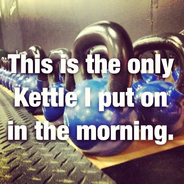 troyboom :     Hit the gym before anyone else gets there!     3 rounds for time  10 53lb kettle bell swings 400m run 10 push ups  8:02