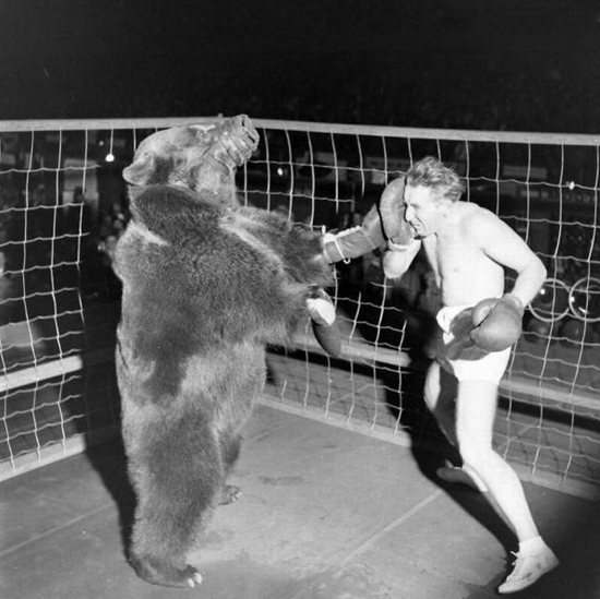 Bear Complex!   5 rounds or 7 reps of the following without putting the bar down during the 7 reps.     1. Power Clean    2. Front Squat    3. Push-Press    4. Back Squat    5. Push-Press     round 1: 65     2: 85     3: 95     4: 100     5: 110