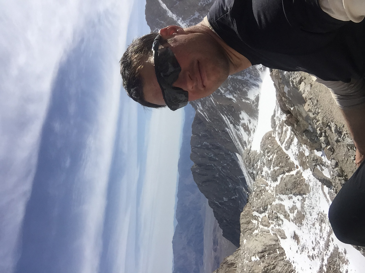 The author at 12,500ft when he had to turn around
