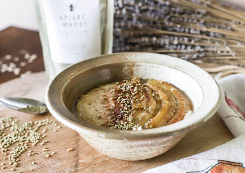 bee pollen porridge