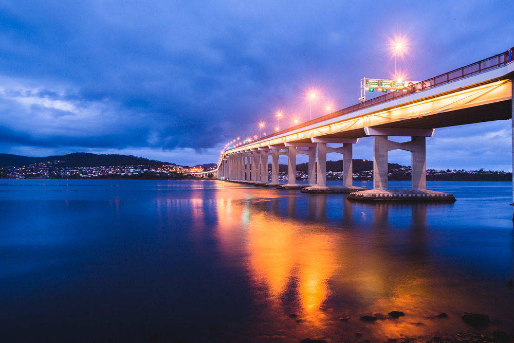 Tasman Bridge Blue Hour - 15sec @ f11 - ISO100