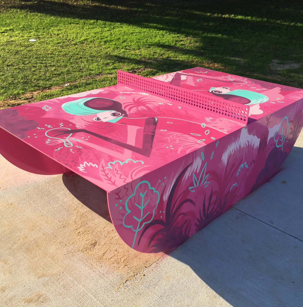 POPP ping pong table project, Victoria Park. Commissioned by Town of Victoria Park.