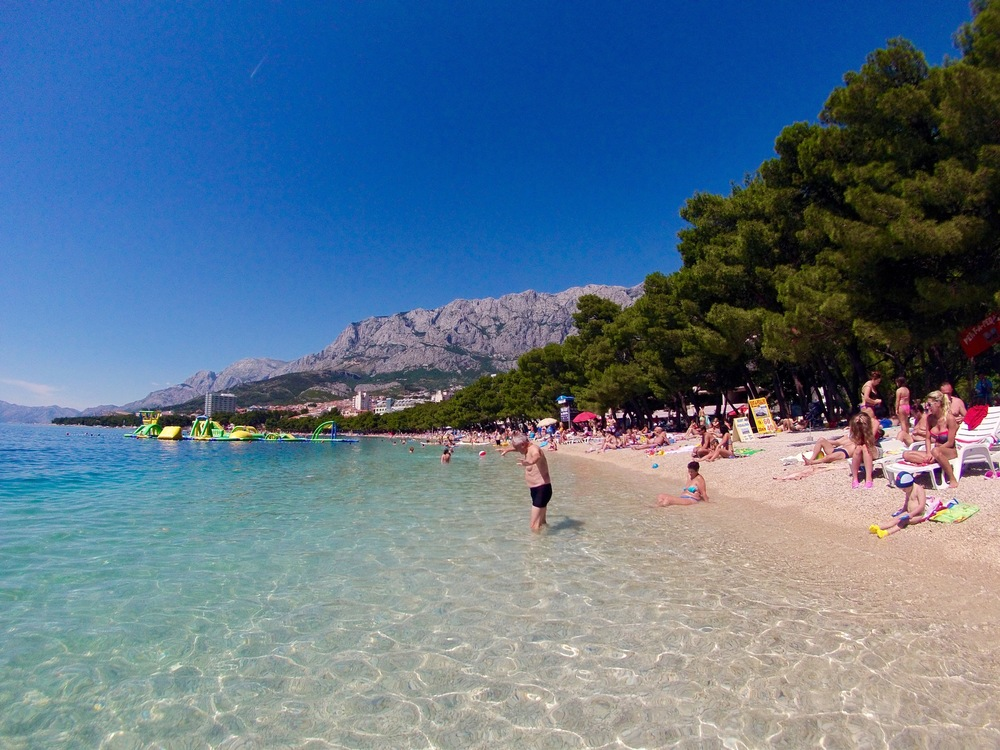 Makarska - beach view