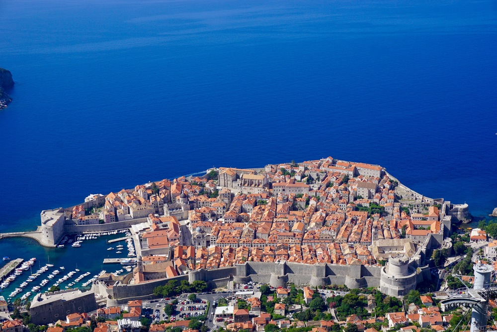 Dubrovnik - View from the the top of Srd Hill