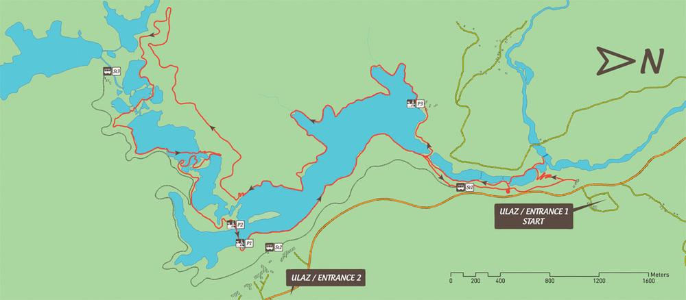 Route K (http://www.np-plitvicka-jezera.hr/)