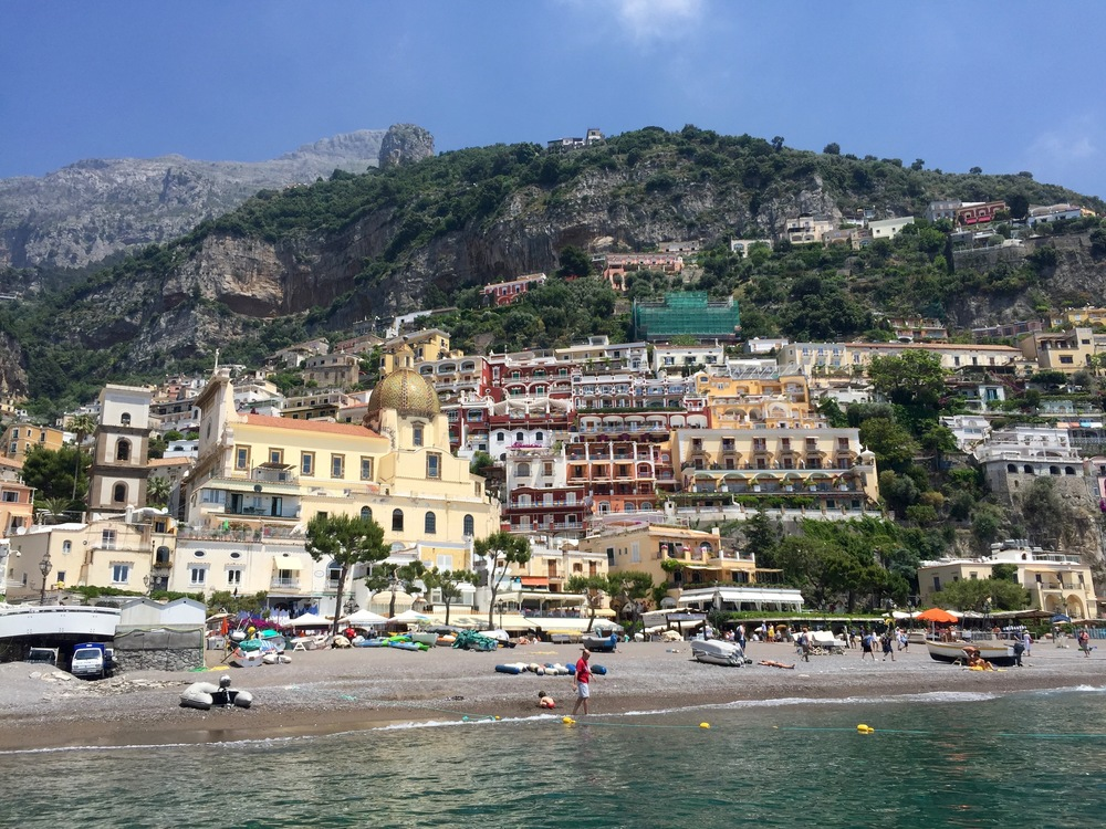 Positano - view from the pier