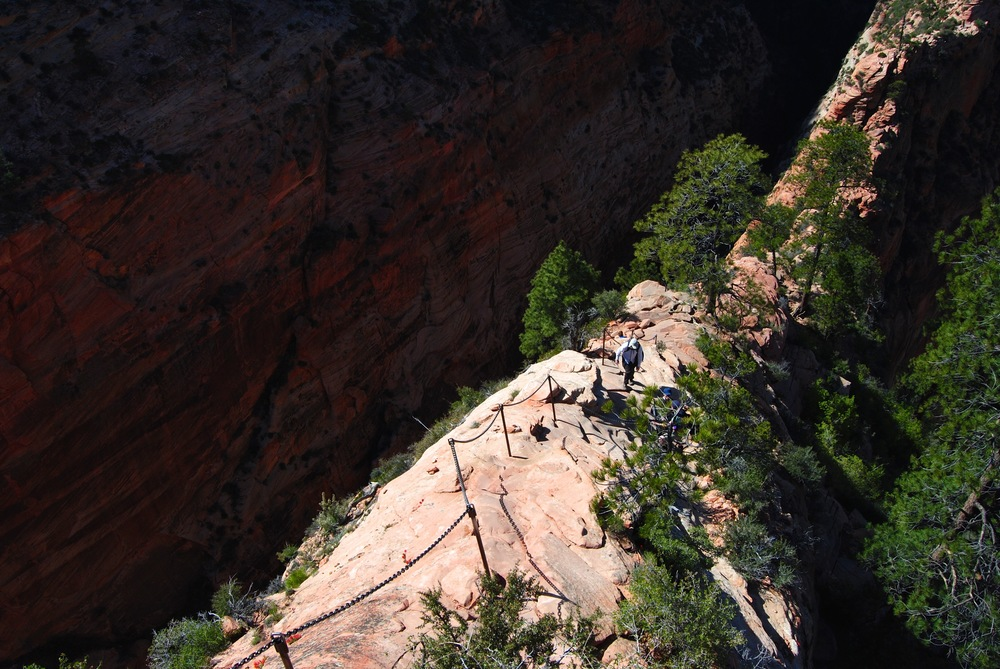 Zion National Park - The trail up to Angel's Landing