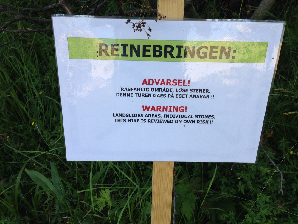 Sign at the start of the REINEBRINGEN trail