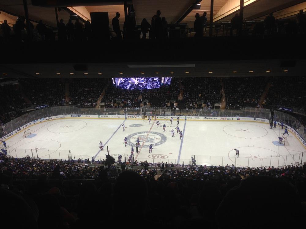 NY Rangers at Maddison Square Gardens