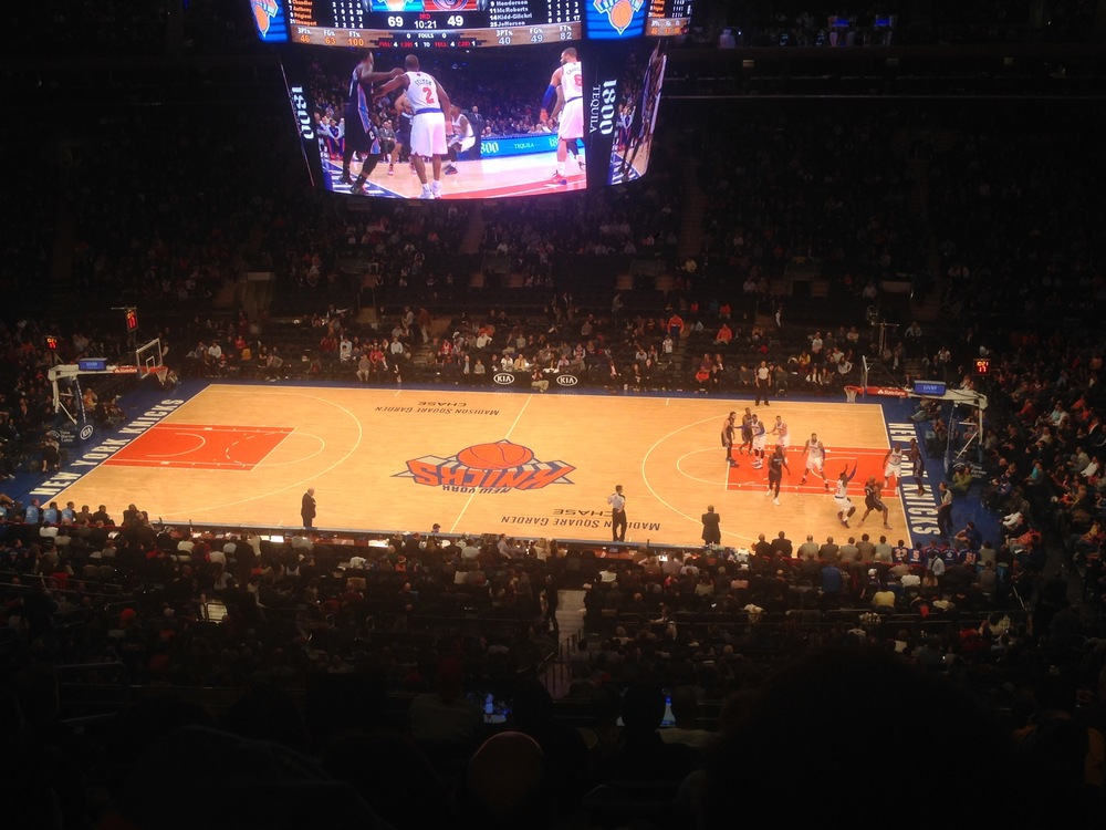 Knicks game at Maddison Square Gardens