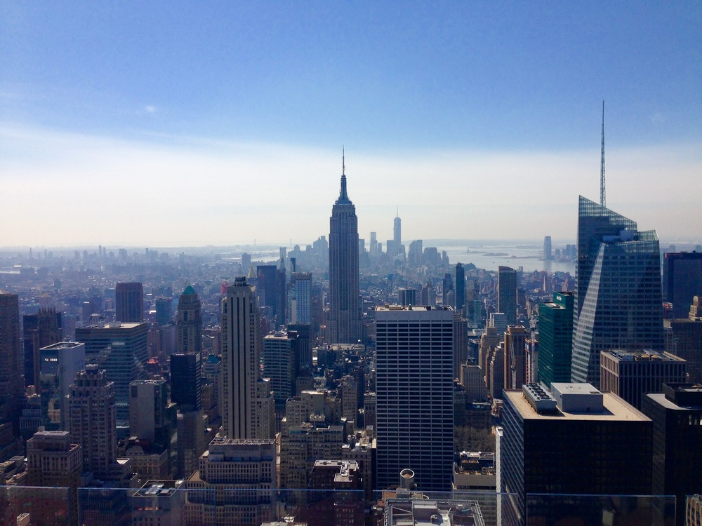 View of the Empire State Building from the Top of the Rock