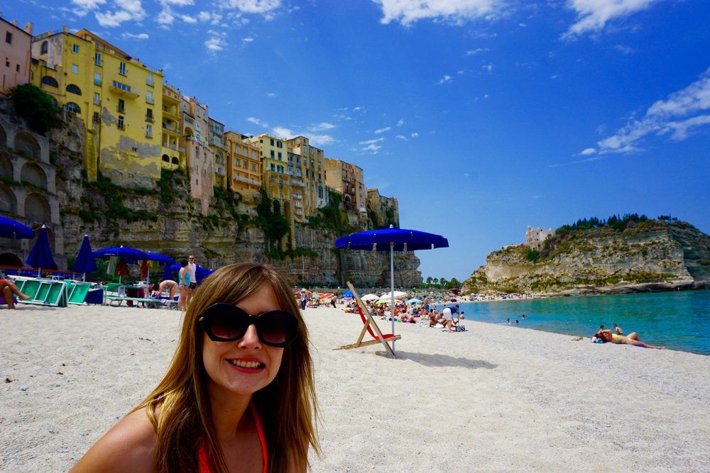 Tropea - Beach view of the old town