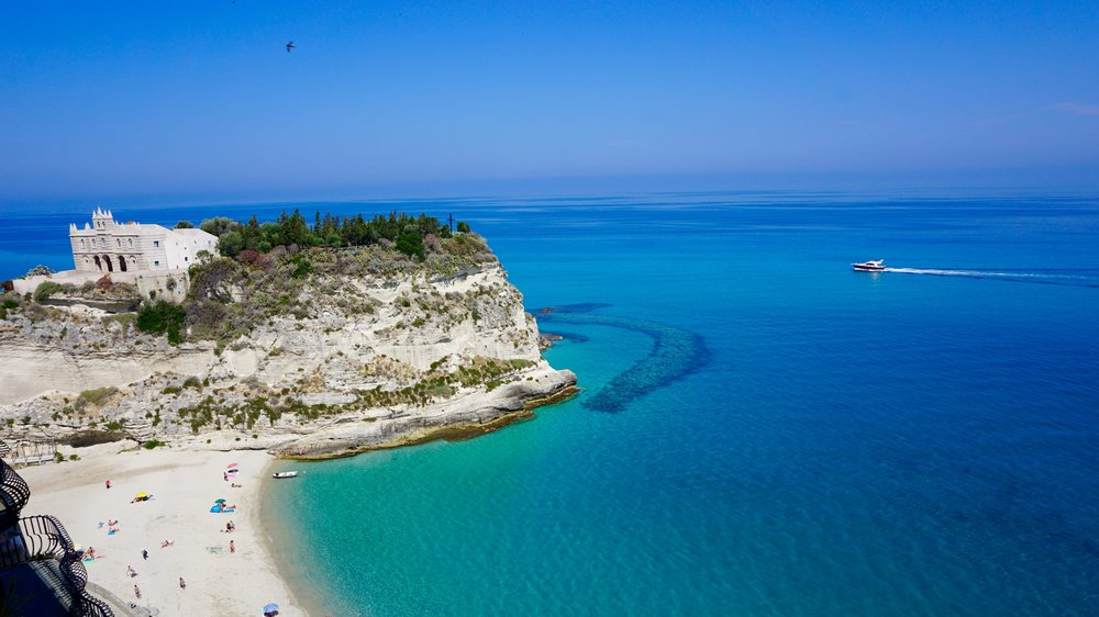 Tropea - The view of the crystal clear waters from the Old Town