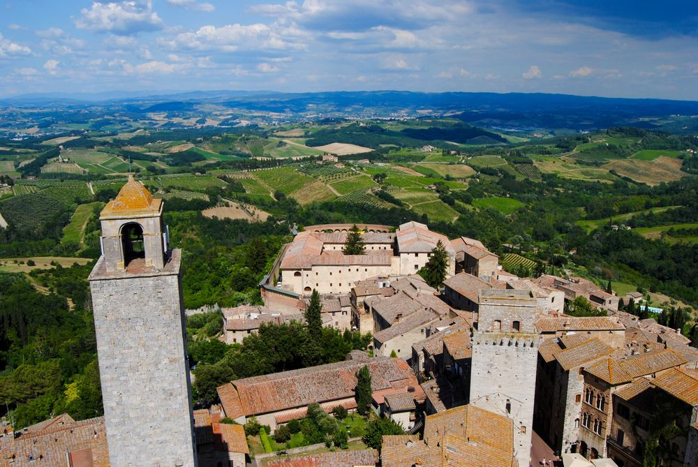 San Gimignano - View of the Tuscan Countryside from Torre Grossa