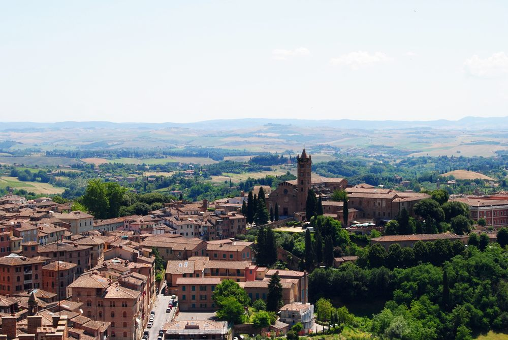 View of the Tuscan Countryside from Siena