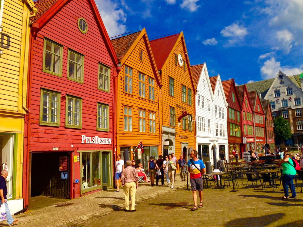 The Bryggen Whalf in Bergen